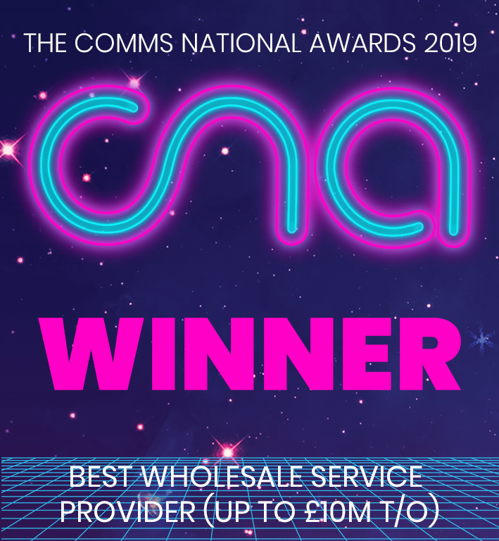 CNA Winner 2019 -Wholesale Service Provider (up to £10m)